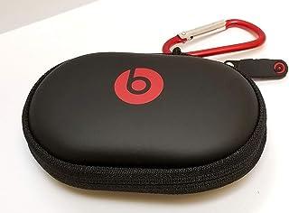 Hard Case + RED/Silver Carabiner/Hook for Powerbeats 3, 2 & 1, BeatsX, UrBeats, Tour, iBeats, Lady Gaga, Diddy Beats & All...