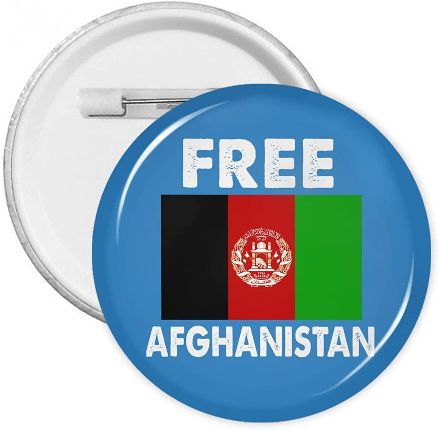Free Beauty products Afghanistan Round Button Pins With Badges safety