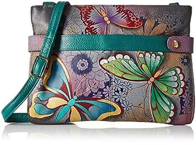 Anna by Anuschka Butterfly Crossbody Handbag