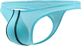 YOOBNG Men's Spandex Thong Male T-Back G-String Jockstrap Underwear Pouch Body Low Rise