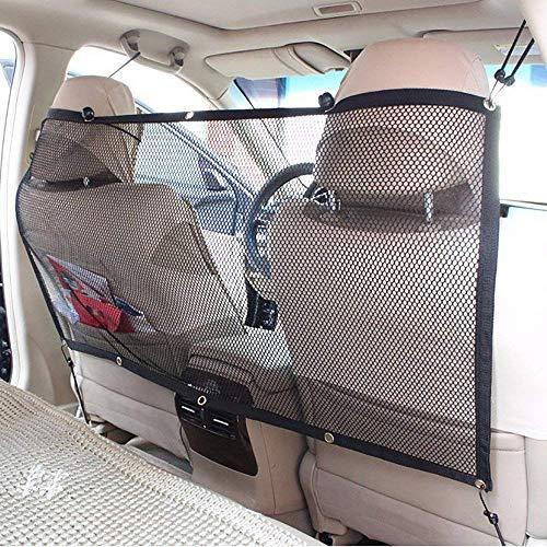 FREESOO Cane Auto Separatore Auto Barriera per Cani per Cane Protezione dell\'Auto Pet Sicurezza Portatile Pet Net Barrier in Rete 115cm*62cm