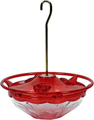 Aspects 433 HummBlossom Hummingbird Feeder, 4 oz, Rose (1 Pack) Bundle with Nectar Guard Tips (1 Pack)
