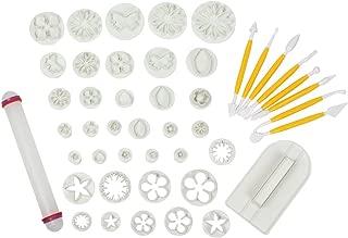 LOHOME® Fondant Cake Decorating Kit, 14 Sets(46pcs) Cookie Mould Cutter Tool Dessert DIY Maker (46 PCS)