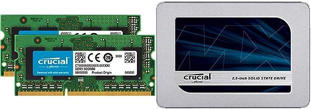 Crucial 16GB Kit (8GBx2) DDR3/DDR3L 1600 MT/S (PC3-12800) Unbuffered SODIMM 204-Pin Memory - CT2KIT102464BF160B Bundle wit...