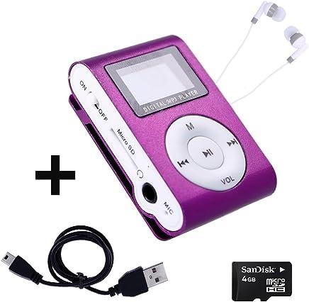 f742f2d3f Mini Reproductor MP3 con Pantalla LCD y Enganche de Clip + Tarjeta de 4Gb +  Cable