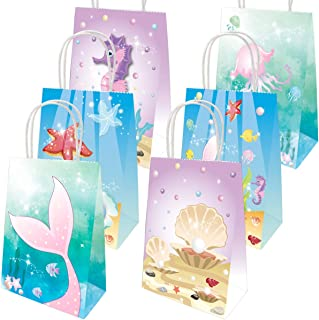 Mermaid Gift Bags Mermaid Party Supplies Favors Goodie Bag Mermaid Party Decorations for Kids Girls Mermaid Themed Birthday Party 18 Pack
