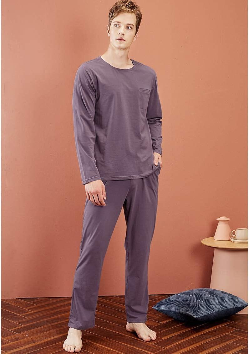 FMOGG Mens Pyjama Set Long Sleeve Top & Pants Pj Set Sleepwear Nightwear Loungewear M-XXL