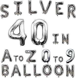 40inch Silver Letter Balloons Alphabet Balloons Helium Birthday Balloons Foil Mylar for Party Engagement Wedding Anniversary Graduation Bridal Shower Bachelorette of 2019 BALLOON (0 Balloon)
