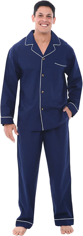 Alexander Del Rossa Excellent Men's Lightweight Set High material Down Pajama Lo Button