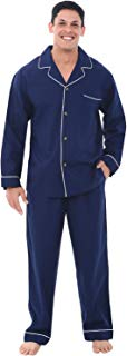 Alexander Del Rossa Men's Lightweight Button Down Pajama...