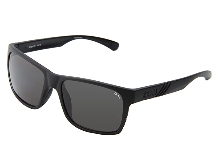 Zeal Optics  Brewer (Matte Black w / Dark Grey Polarized Lens) Sport Sunglasses