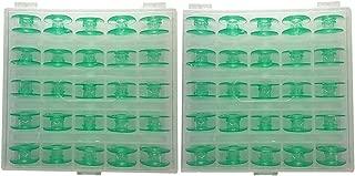 Colorsheng Green Bobbins for Viking Husqvarna Sewing Machines Plastic #4131825-45#(2 Box of 50pcs Bobbins)