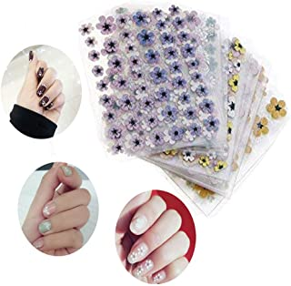 ArRord 50 Sheets Nail Art Stickers New 3D Style Self-adhesive Tip Nail Art Tattoo Decals DIY Nails Art Decoration DIY Manicure