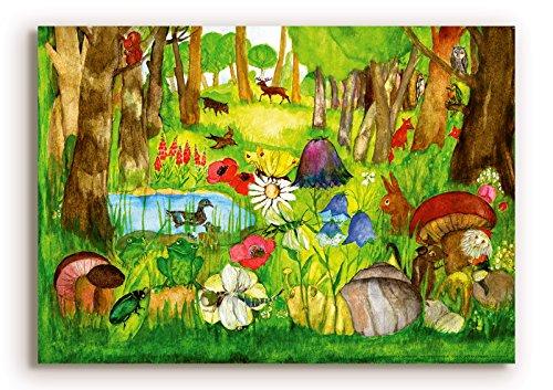 Poster fürs Kinderzimmer von Eva Maria Ott-Heidmann - Zwergenwald vom schnurverlag