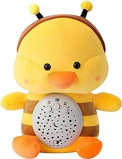 NC Baby Sleep Toy Night Light and Sound Machine, Sleep Music Player Baby White Noise Plush Toy - Duck