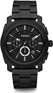 Fossil Machine For Men Black Dial Stainless Steel Band Chronograph Watch - FS4552