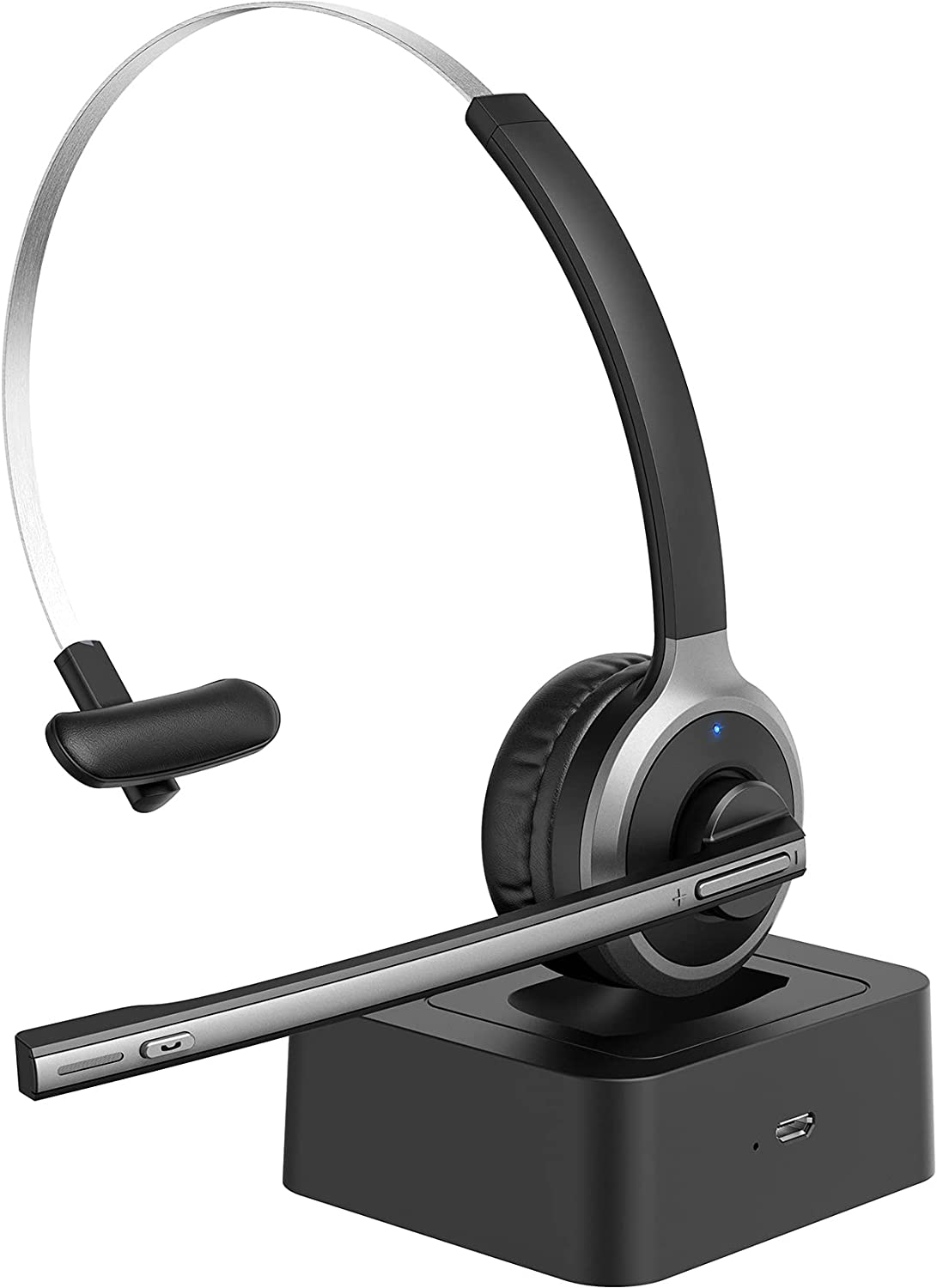 Wireless Headset with Microphone Noise Canceling, Lightweight Wireless Headphones for Computer, On-Ear Office Headset for Online Meeting, Business, K12 Classroom, Work from Home