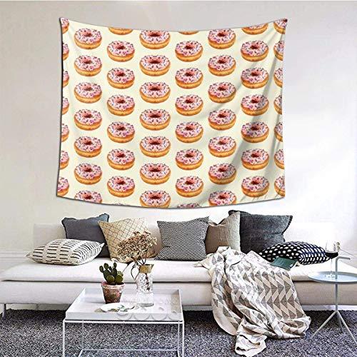 Lindo Tapiz de Pared con diseño de Donut sin Costuras, Tapiz de Arte Hippie para Colgar en la Pared, decoración del hogar, manteles Extra Grandes para Dormitorio, Sala de Estar, Dormitorio