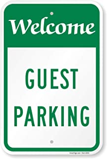"SmartSign ""Welcome - Guest Parking"" Sign 