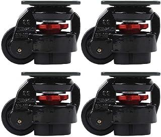 Niady 4 stuks Level Adjustment Caster GD? 60F Heavy Duty Industriële Roller Wheel Leveling Caster Wheels