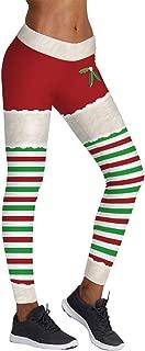 Women's Chic Ugly Santa Christmas Leggings Funny Costume Tights