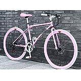 YXWJ Estilo simple de bicicletas de montaña for los hombres Suspensión Tenedor, freno de disco, 40 Spoke 24 bicis de la velocidad del marco de aleación de aluminio de bicicletas de montaña del freno d