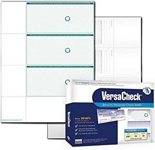 VersaCheck UV Secure Personal Check Refills: Form #3001 Personal Wallet - Green - Elite - 250 Sheets