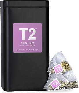 T2 Tea T2 Tea Sleep Tight 60 Tea Bags Tin - Supports A Good Night's Sleep, 60 Count, Sleep Tight