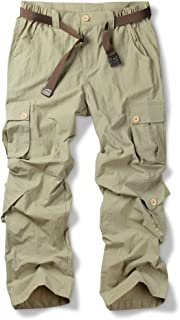 Fulture Direct Men's Outdoor Casual Quick Dry UV Protection Hiking Cargo Pants with Pockets