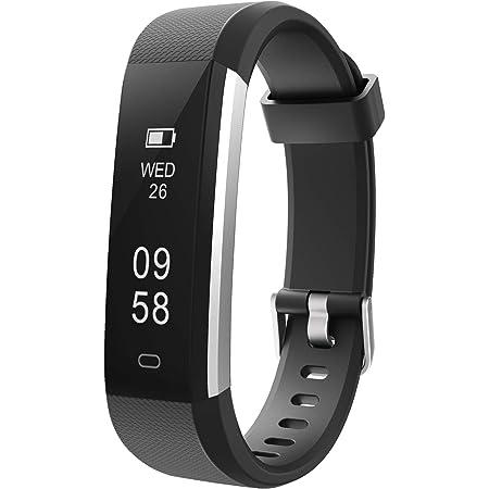 Letsfit fitness tracker Id115u, Waterproof Activity Pedometer Step Sleep Monitor Calorie Counter Watch, Slim Smart Bracelet for Kids Women Men