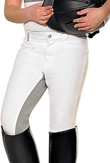Pfiff - Pantalones de equitación con culera Gris para niños