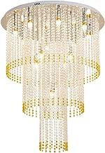 LED Crystal Lamp Ceiling Lamp European Round Bedroom Lamp Living Room Lamp Ceiling Lamp (Size : 70x80cm)