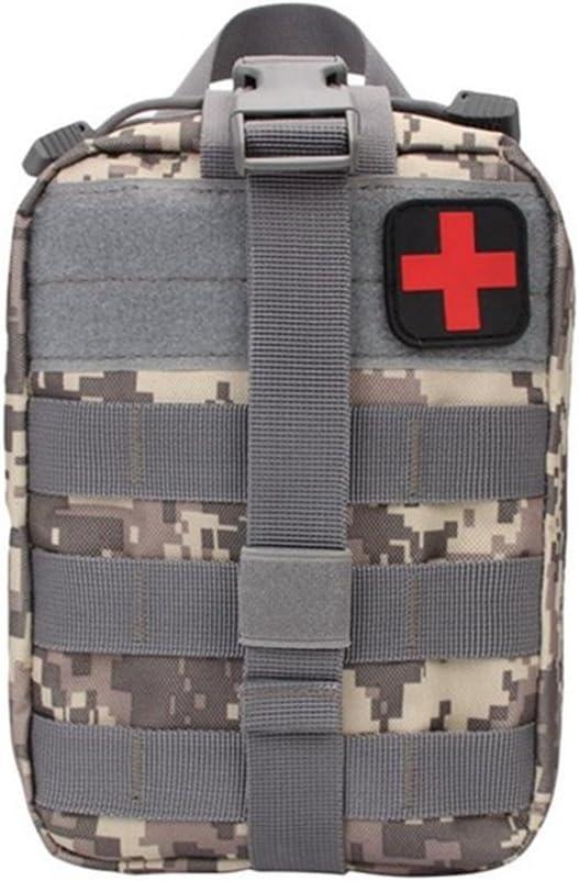 SUNRIS Kit de Supervivencia al Aire Libre, Bolsa de médico táctica, Multifuncional, riñonera para Viajes, Camping, Escalada, Emergencia, Kit de Primeros Auxilios