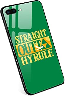 iPhone 8 Cases,Straight Outta Hyrule Tempered Glass iPhone 7 Case with Clear Ring Kickstand Black Cover Rotating Stand Case for iPhone 7/8 4.7 inch
