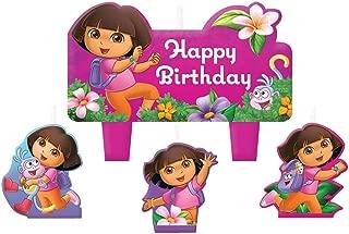 Dora the Explorer 'Flower Adventure' Mini Molded Cake Candles (4pc)