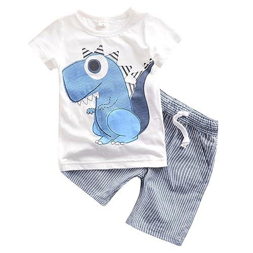 b2ca460de92e Blaward Toddler Kids Baby Boys Anchor Pattern Button Down T-Shirt Tops+ Shorts Pants