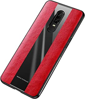 Heroisnice One Plus6 Case Compatible with OnePlus 6 Cases Luxury Slim Cell Phone Cover Shockproof 1plus6 Skin Soft TPU Oneplus6 Protective Bumper 6.28 Inch (Red)