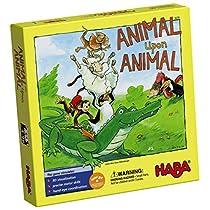 HABA-3678-Animal-Upon-Animal-Juego-de-apilamiento-de-Madera-para-Toda-la-Familia-Fabricado-en-Alemania