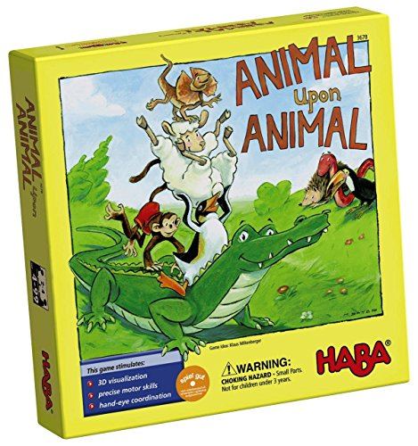 Image of the HABA Animal Upon Animal - Classic Wooden Stacking Game Fun for The Whole Family (Made in Germany)