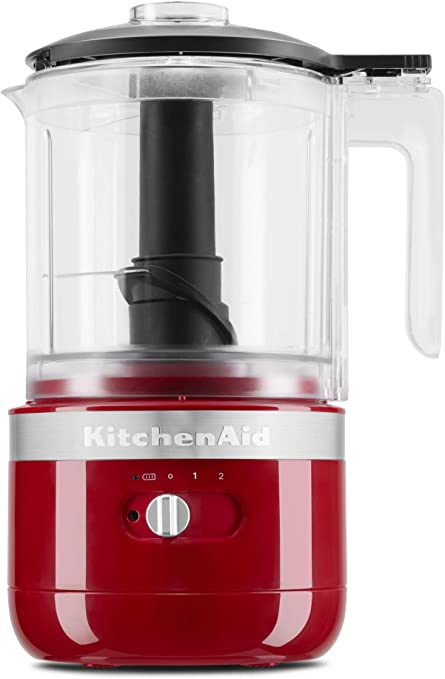 Amazon Com Kitchenaid Kfcb519er Cordless Chopper 5 Cup Empire Red Kitchen Dining