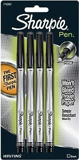 Sharpie Pen Fine Point Pen, 4 Black Pens (1742661)