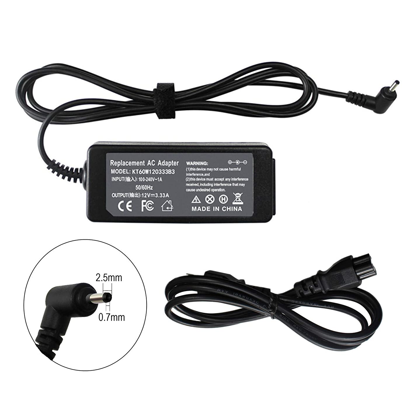 FLYTEN 26W 40W AC Adapter Charger for Samsung Chromebook 3 XE500C13 XE500C13-K01US XE500C13-K02US XE500C13-K03US XE500C13-K04US XE500C13-K05US XE500C13-S01US,fit P/N A12-040N1A AD-2612AUS BA44-00322A