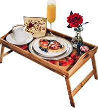 Breakfast in Bed Romance-in-a-Box | Romantic Romantic Wedding Birthday Gifts Basket with Breakfast Tray Table and Rose Petals