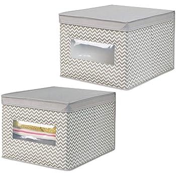 mDesign Caja para organizar juguetes Caja de tela para