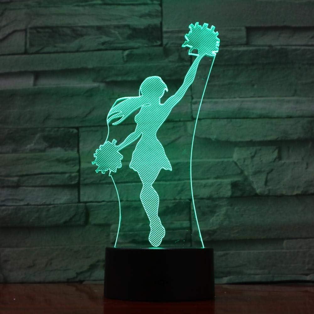 3D Night Cheerleader Sport Modelling Vis Excellent 7 Sales for sale Colors Light