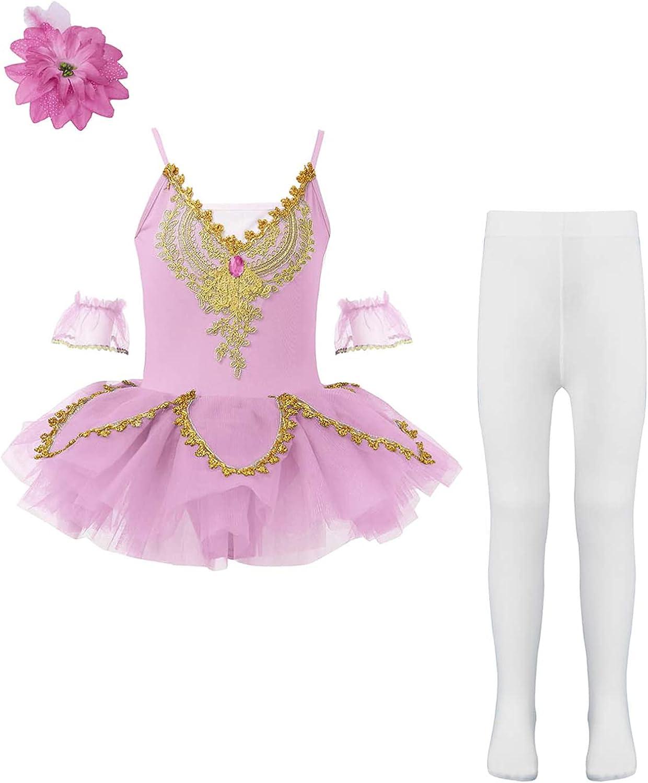 Max 64% OFF Aislor Kids Girls Camisole Skirted Ballet Pri Nippon regular agency Dress Tutu Leotard