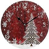 Desconocido 0 BUON Navidad Copo de Nieve árbol de Madera Relojes de Pared de...