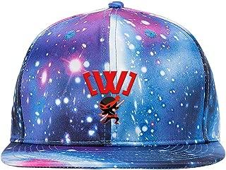 Unisex Love_Ninja_Swords Starry Sky Hat Baseball Golf Ball Rap Hip Hop Dad Caps Blue