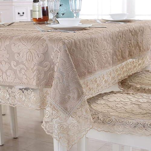 precio mas barato WENYAO Lace Anti-skidding Tablecloth,Tea Tablecloth,Tea Tablecloth,Tea tabcloth Modern Heavyweight Fabric Tablecloth for Dining Room A 80x270cm(31x106inch)  la mejor oferta de tienda online