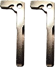 ONIZZBAND 2 Pcs Steel Uncut Key Inserts Emergency Blades for Mercedes Benz IYZDC11 IYZDC10 IYZDC07